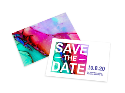 Colorful Save The Date Card Template preview
