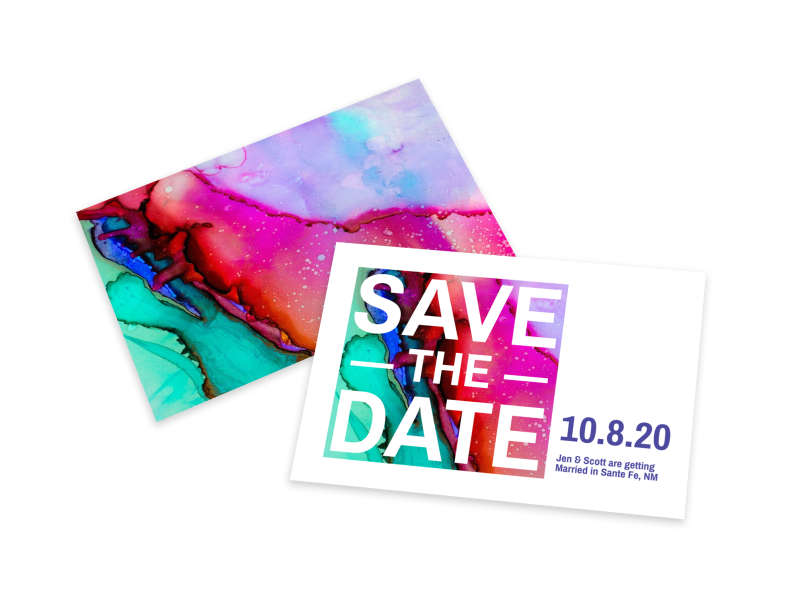 Colorful Save The Date Card Template Preview 1