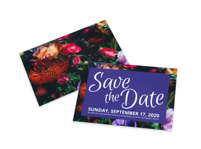 Floral Save The Date Card Template preview