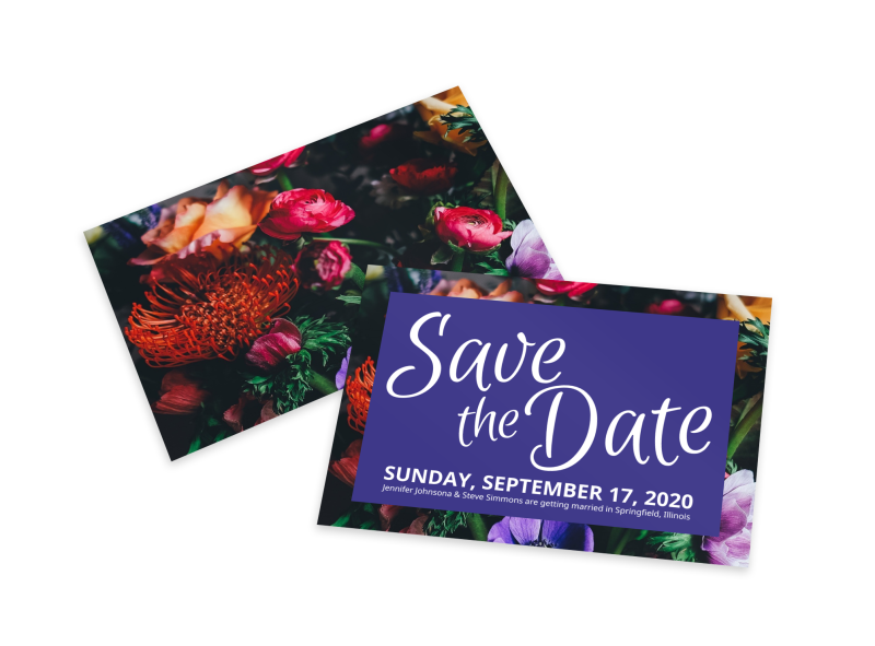 Floral Save The Date Card Template Preview 1