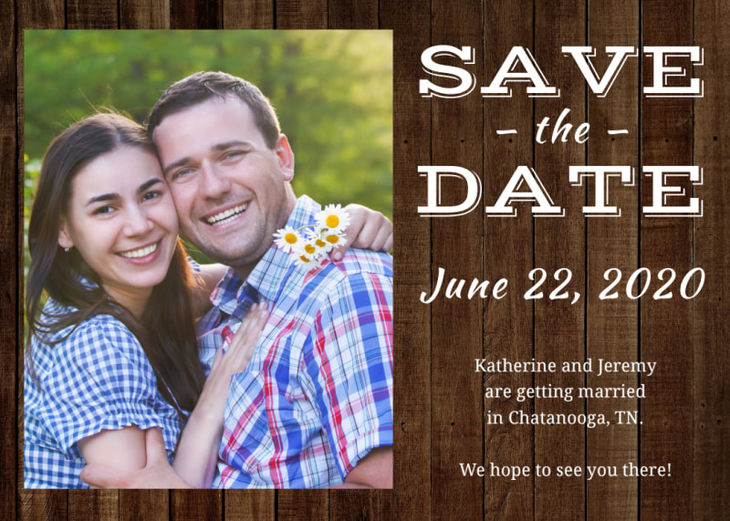 Barn Save The Date Card Template Preview 2