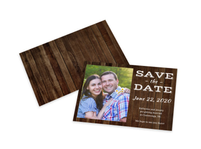Barn Save The Date Card Template preview