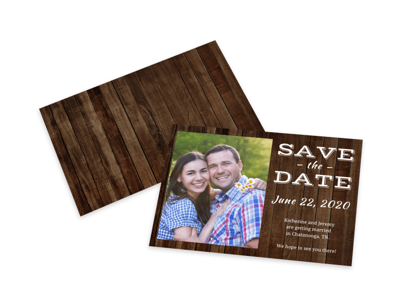 Barn Save The Date Card Template Preview 1
