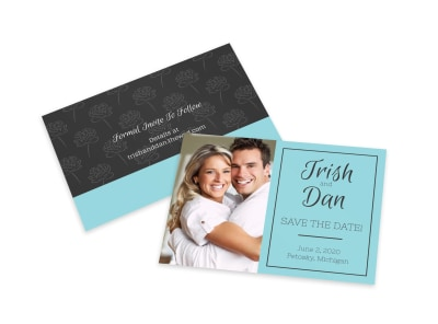 Teal Save The Date Card Template preview