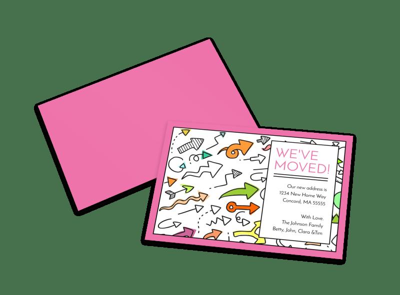We've Moved Card Template | MyCreativeShop