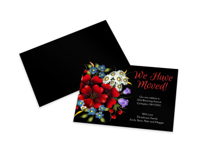 We Have Moved Card Template preview
