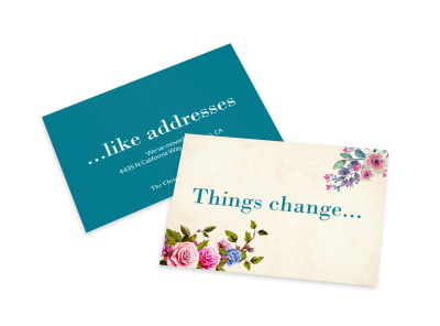 Address Change Card Template preview