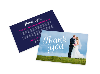 Wedding Thank You Card Template preview