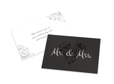 Mr & Mrs Card Template preview