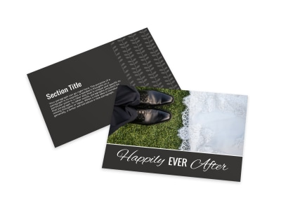 Happily Ever After Card Template preview
