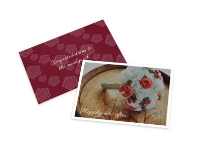Wedding Congratulations Card Template preview