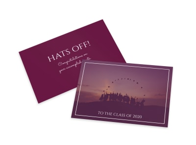 Graduation Hats Off Card Template preview