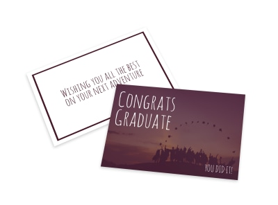 Congrats Graduate Card Template preview