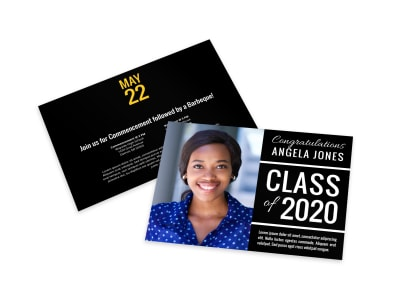 Classic Graduation Card Template preview