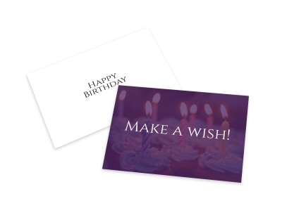 Birthday Wish Card Template preview