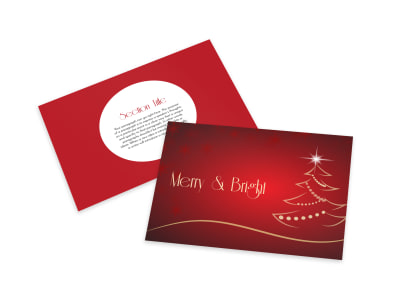 Merry Christmas Card Template preview