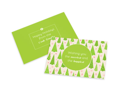 Christmas Tree Card Template preview