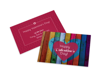Colorful Valentine's Day Card Template preview