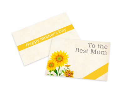 Mother's Day Best Mom Card Template preview