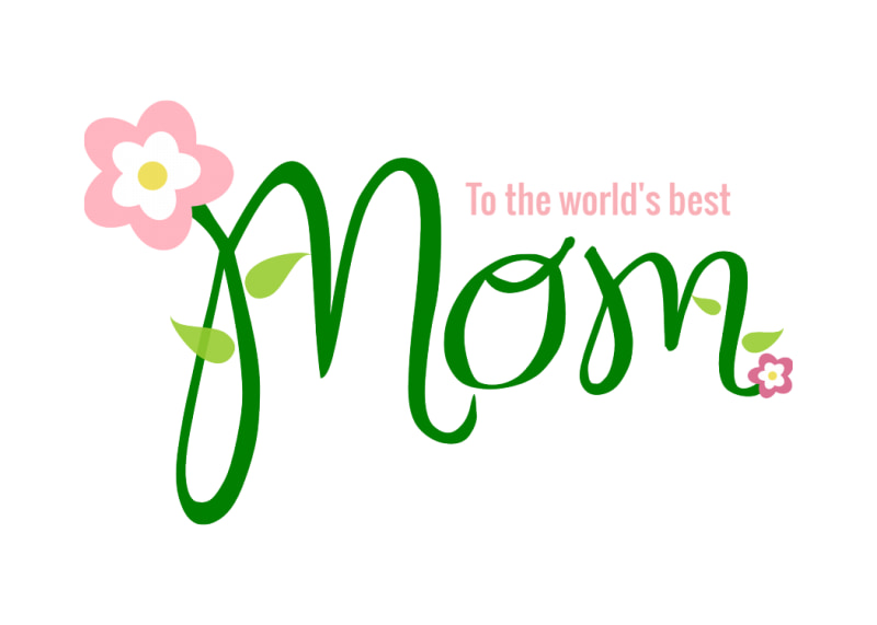 Mother's Day Green Card Template Preview 2