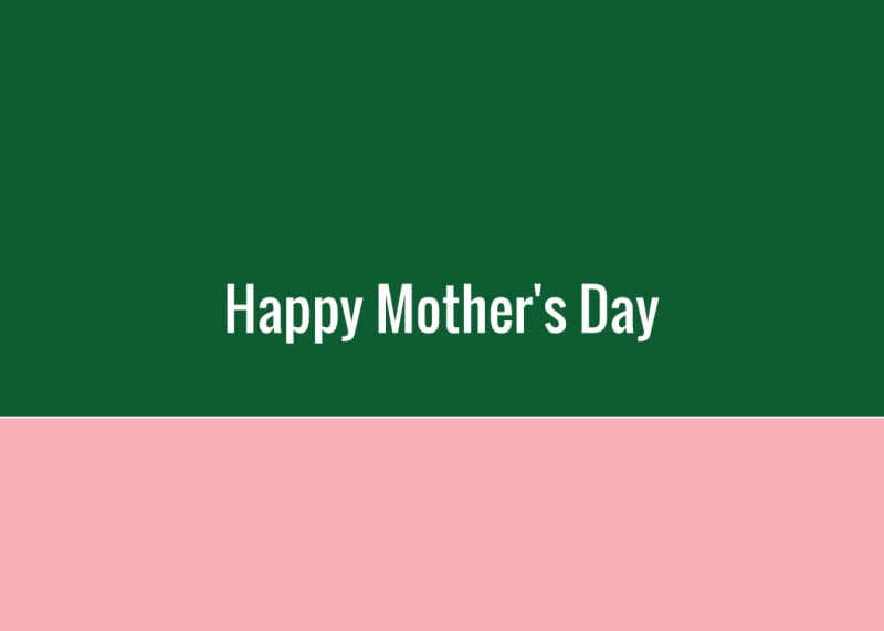 Mother's Day Green Card Template Preview 3