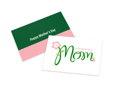 Mother's Day Green Card Template preview