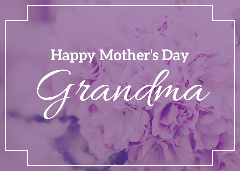 Mother's Day Grandma Card Template Preview 2