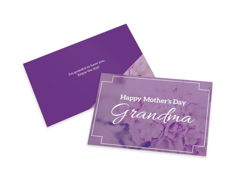 Mother's Day Grandma Card Template Preview 4