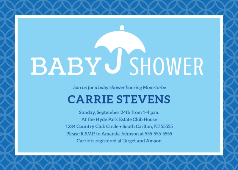 Baby Shower Info Card Template Preview 2