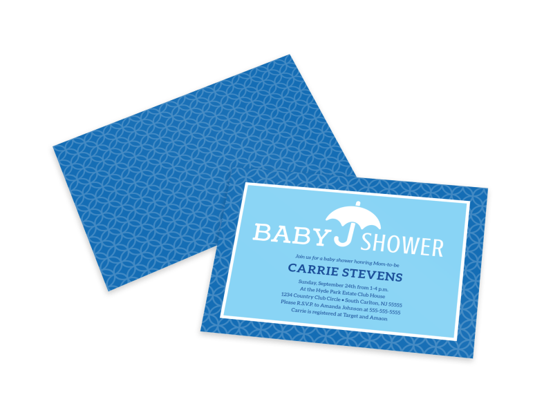 Baby Shower Info Card Template Preview 1