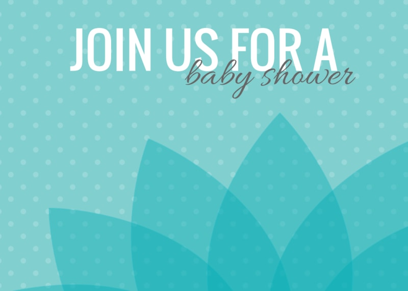 Baby Shower Invite Card Template Preview 2