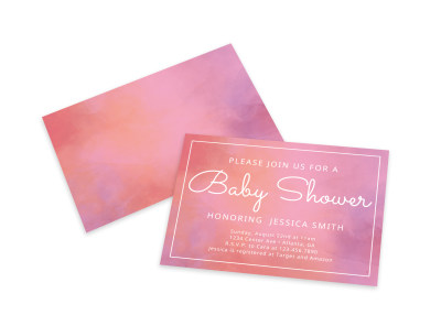 Baby Shower Join Us Card Template preview