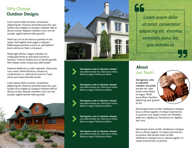 Landscaping Yard Tri-Fold Brochure Template Preview 3