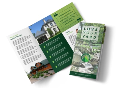 Landscaping Yard Tri-Fold Brochure Template preview