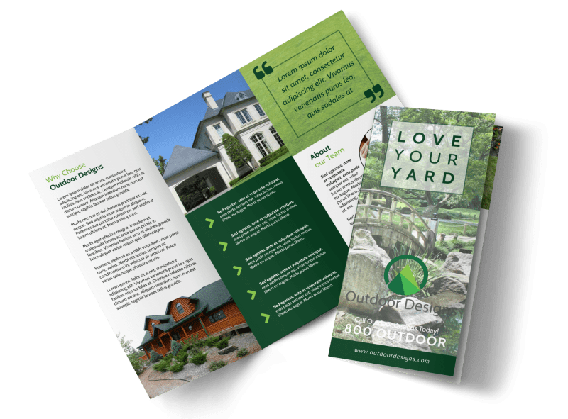 Landscaping Yard Tri-Fold Brochure Template Preview 1