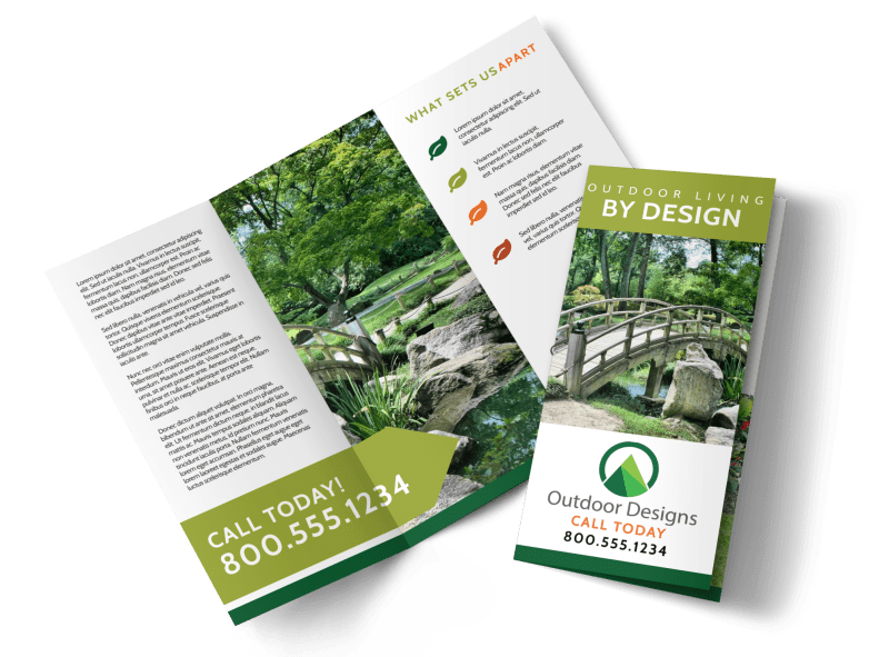 Outdoor Living Tri-Fold Brochure Template Preview 1