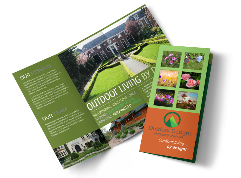 Outdoor Living Design Tri-Fold Brochure Template Preview 4