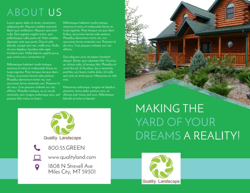 Dream Yard Bi-Fold Brochure Template Preview 2
