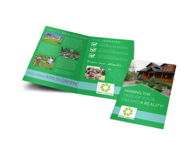 Dream Yard Bi-Fold Brochure Template preview