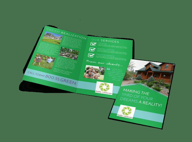 Dream Yard Bi-Fold Brochure Template Preview 1