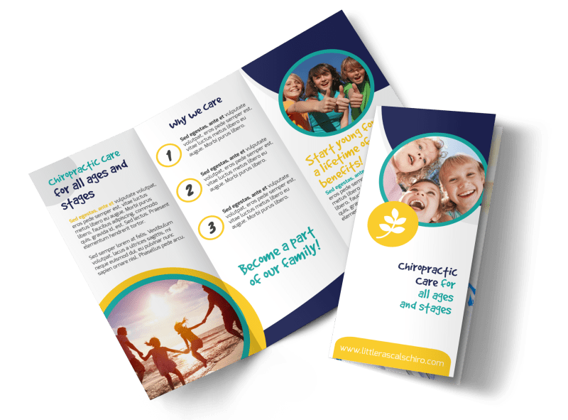 Fun Chiropractic Care Tri-Fold Brochure Template Preview 1