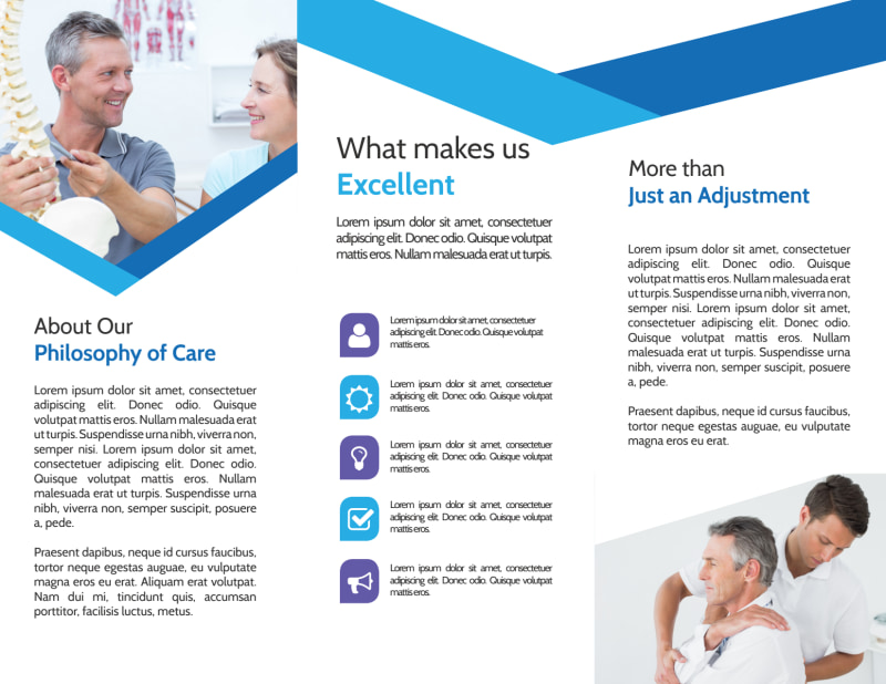Chiropractic Excellence Tri-Fold Brochure Template Preview 3