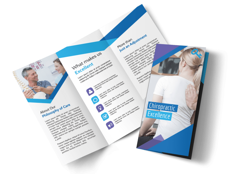 Chiropractic Excellence Tri-Fold Brochure Template Preview 1