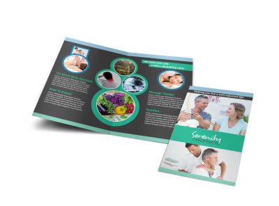 Chiropractic Serenity Bi-Fold Brochure Template preview