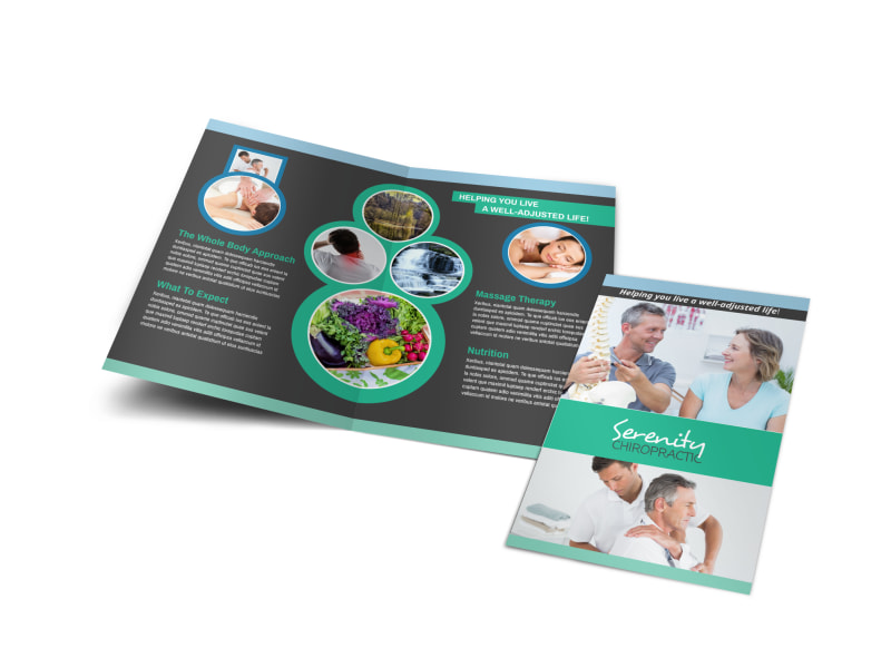 Chiropractic Serenity Bi-Fold Brochure Template Preview 4