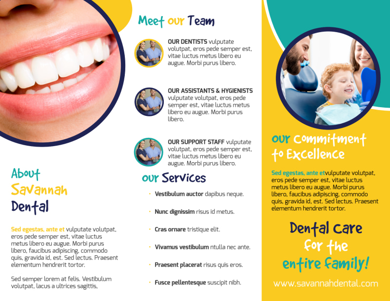 About Us Dental Care Tri-Fold Brochure Template Preview 3