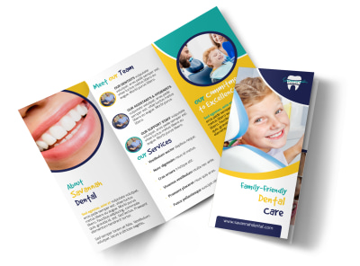 About Us Dental Care Tri-Fold Brochure Template preview