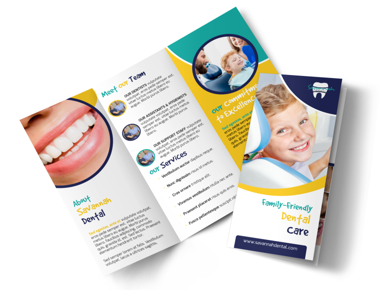 About Us Dental Care Tri-Fold Brochure Template Preview 1