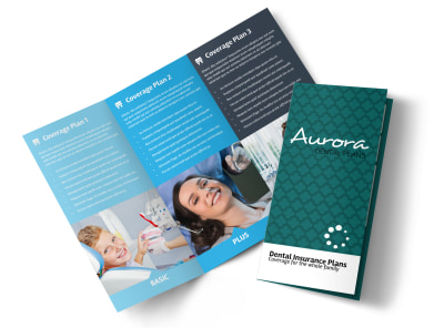 Dental Plan Coverage Tri-Fold Brochure Template preview