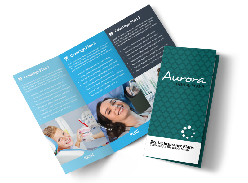 Dental Plan Coverage Tri-Fold Brochure Template Preview 4